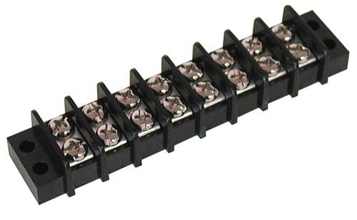 8-POSITION DUAL-ROW STRIP, 20 AMP