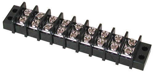 9-POSITION DUAL-ROW STRIP, 20 AMP