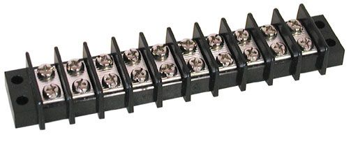 10-POSITION DUAL ROW STRIP, 25 AMP