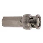 BNC MALE CONNECTOR, TWIST-ON RG6 CABLE