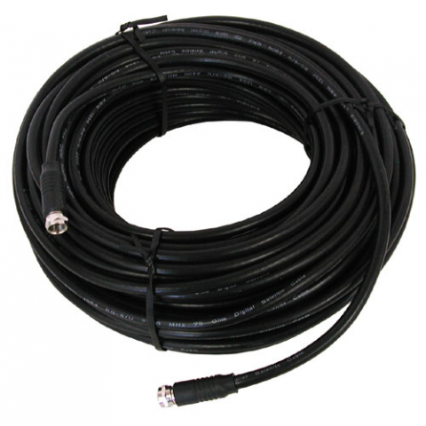 100' BLACK RG-6U VIDEO HOOK-UP CABLE