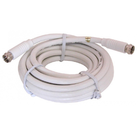 12' WHITE RG-6U VIDEO HOOK-UP CABLE