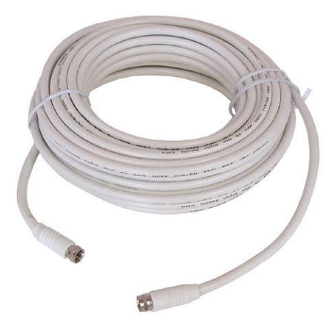 50' WHITE RG-6U VIDEO HOOK-UP CABLE