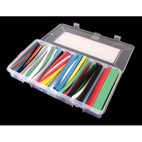COLOR HEAT SHRINK TUBING ASSORTMENT, 154 PCS