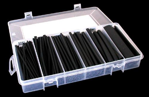 HEAT SHRINK TUBING ASSORTMENT, 154 PIECES