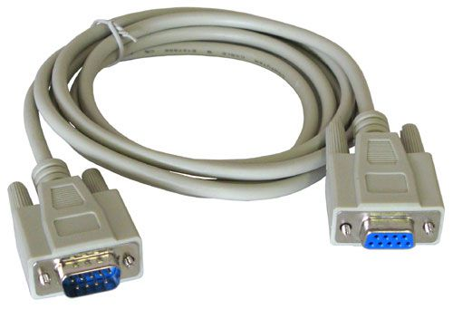 6' SERIAL CABLE, DB-9M TO DB-09F