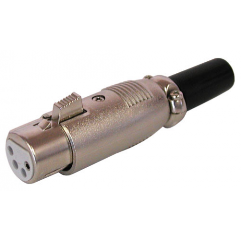 4-PIN XLR FEMALE CONNECTOR, IN-LINE