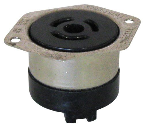 3-POLE TWIST-LOCK CONNECTOR, CHASSIS MT. FEMALE