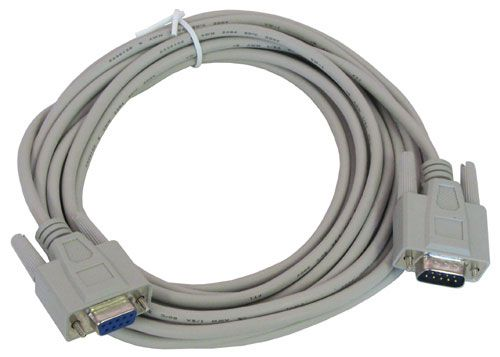 15' DB9P-DB9S SERIAL CABLE, EXTENSION