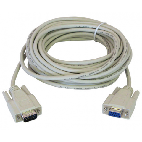 25' DB9P-DB9S SERIAL CABLE, EXTENSION