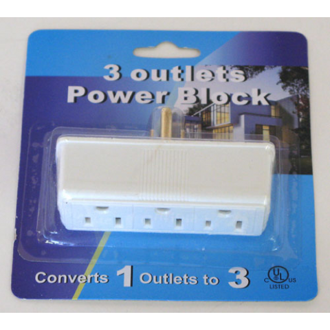 3-OUTLET POWER TAP
