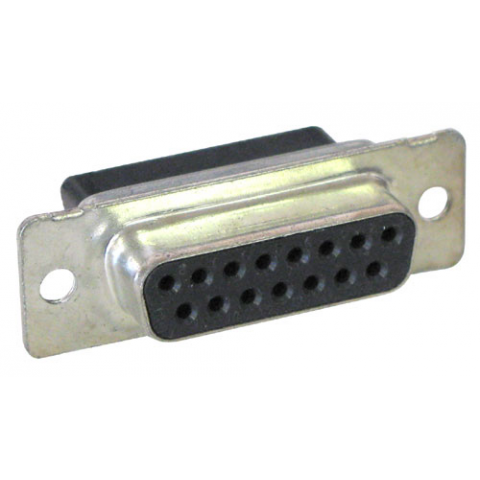 Db 15 Female Connector No Pins All Electronics Corp