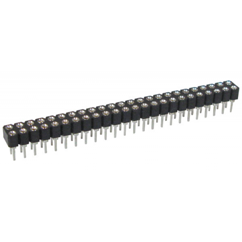 48-PIN DUAL-ROW MACHINED PIN SOCKET