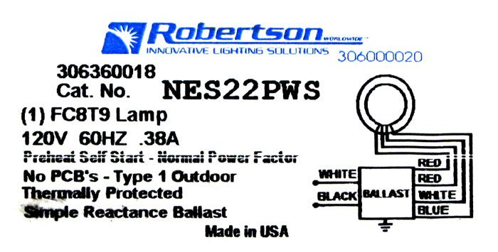 Ballast For Round Fluorescent  Fc8t9