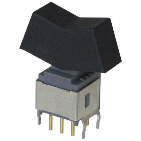 DPDT ON-OFF-(ON) MINI ROCKER SWITCH