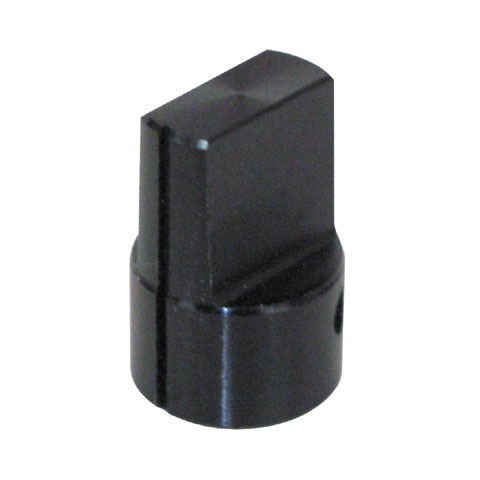 "0.5"" BLACK ALUMINUM KNOB FOR 1/8"" SHAFT"