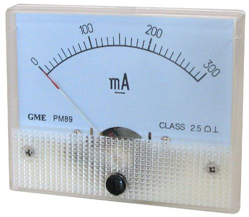 300MA DC PANEL METER