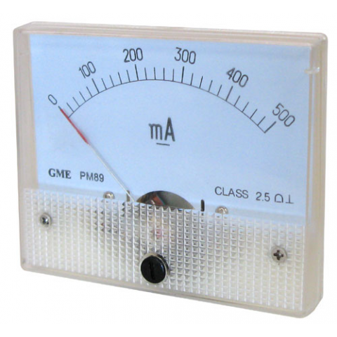 500MA DC PANEL METER