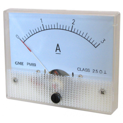 3A DC PANEL METER