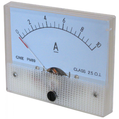 10A DC PANEL METER