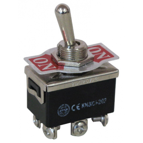 DPDT ON-ON TOGGLE SWITCH, 15A