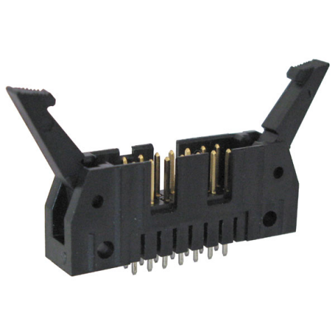 14-PIN SHROUDED HEADER W/ LATCHES
