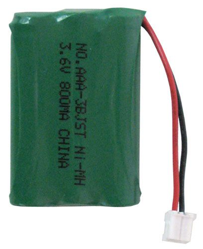 BATTERY PACK FOR CORDLESS PHONE, 3AAA CELL JST CONNECTOR