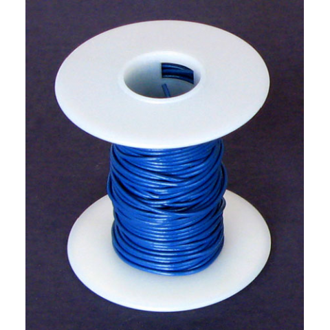 24 GA BLUE HOOK-UP WIRE STRANDED, 25'