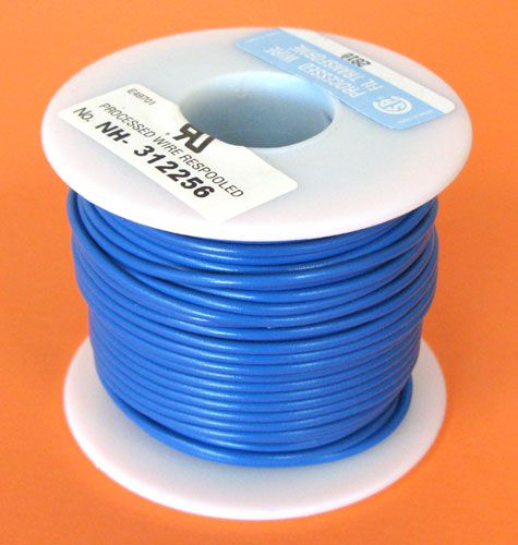 20 GA. BLUE HOOK-UP WIRE, SOLID 100'