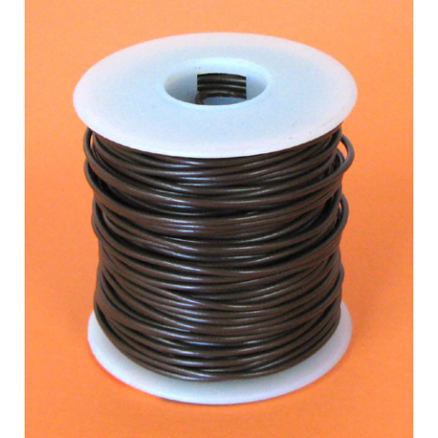 20 GA. BROWN HOOK-UP WIRE, SOLID 100'