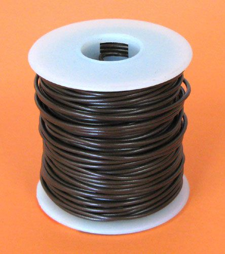 18 GA. BROWN HOOK-UP WIRE, SOLID 100'