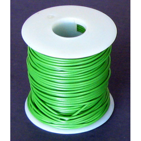 20 GA. GREEN HOOK-UP WIRE, STRANDED 100'