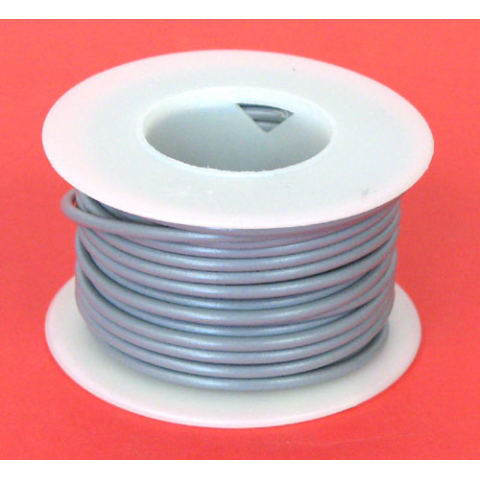 20 GA. GREY HOOK-UP WIRE, STRANDED 25'