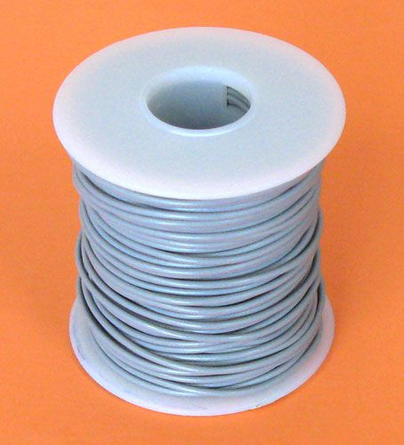 18 GA. GREY HOOK-UP WIRE, SOLID 100'