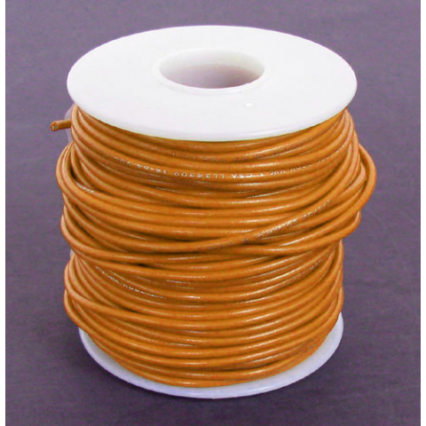 18 GA ORANGE HOOK UP WIRE, STR 100'