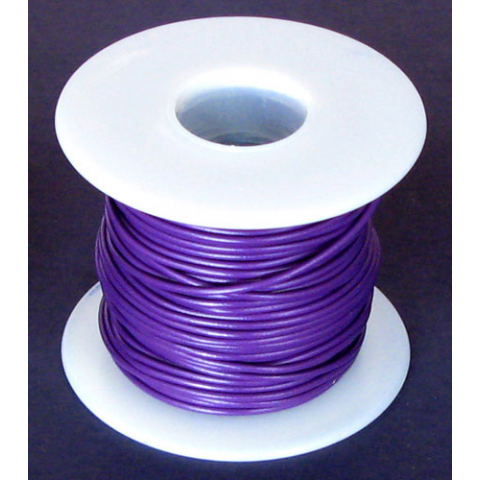 18 GA. PURPLE HOOK-UP WIRE, STRANDED 100'