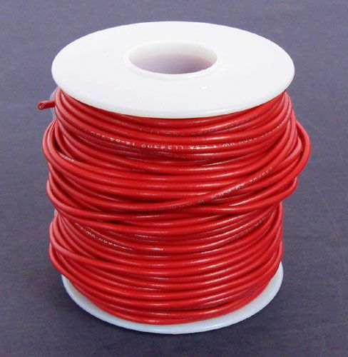 20 GA. RED HOOK-UP WIRE, STRANDED 100'