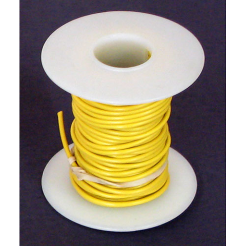 18 GA. YELLOW HOOK-UP WIRE, SOLID 25'