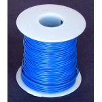22 GA BLUE HOOK UP WIRE, SOLID 100'