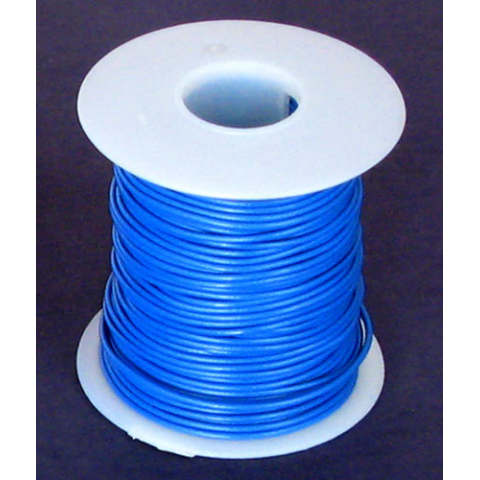 22 GA. BLUE HOOK-UP WIRE, STRANDED 100'