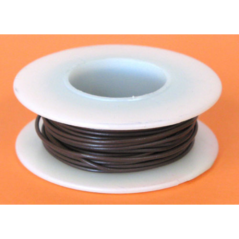 24 GA. BROWN HOOK-UP WIRE, SOLID 25'