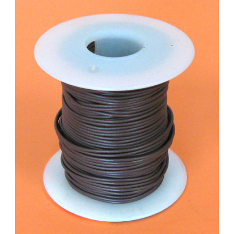 26 GA. BROWN HOOK-UP WIRE, STRANDED, 100'