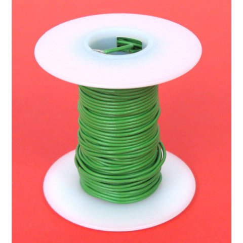 22 GA GREEN HOOK UP WIRE, STR 25'