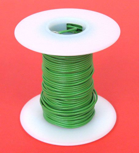 26 GA. GREEN HOOK-UP WIRE, STRANDED 25'