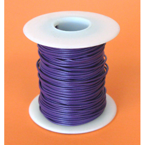 24 GA. PURPLE HOOK-UP WIRE, SOLID 100'