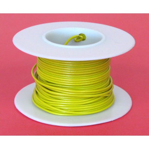 22 GA YELLOW HOOK UP WIRE, SOLID 25'
