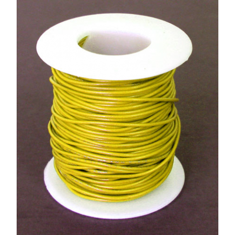24 GA. YELLOW HOOK-UP WIRE, STRANDED 100'