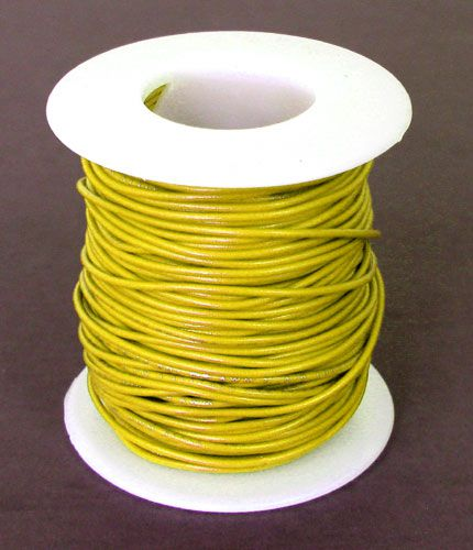24 GA. YELLOW HOOK-UP WIRE, SOLID 100'