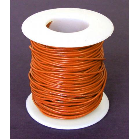 26 GA. ORANGE HOOK-UP WIRE, STRANDED, 100'