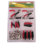 ALLIGATOR CLIP ASSORTMENT, 28 PCS